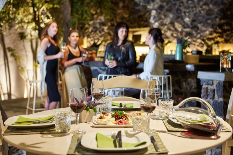Have Delicious Dinner With New Friends On The Join Us To The Night Hike, Wine Tasting & Dinner Experience In Santorini_92