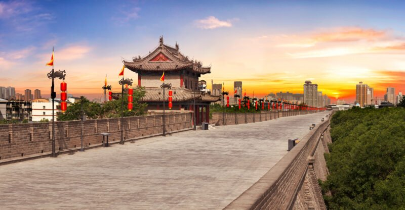 Historic City Wall In Xi'an In Our China Private Impression 14 Day Package
