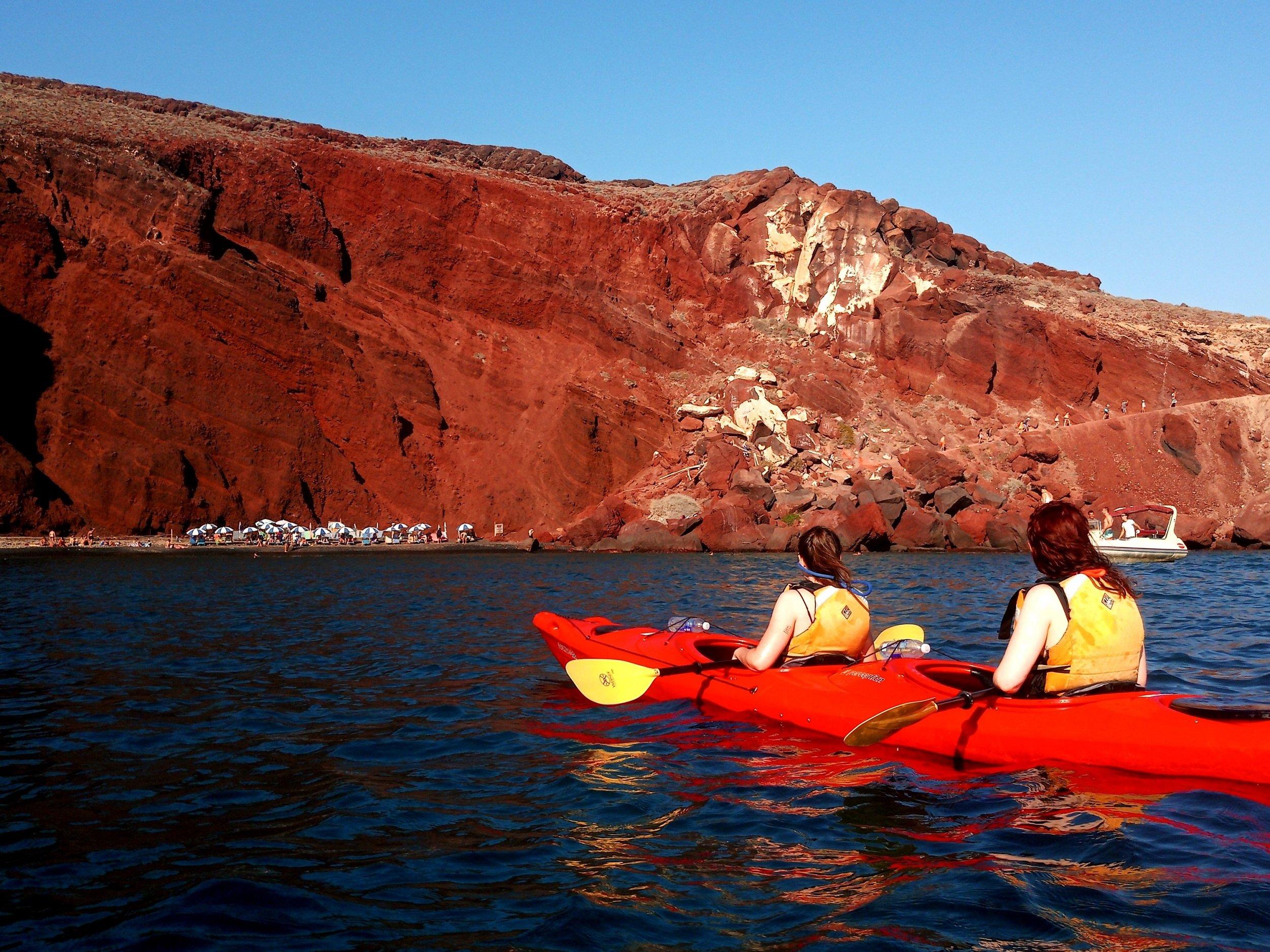Relax On The Sunset Sea Kayak & Snorkeling Tour In Santorini_92