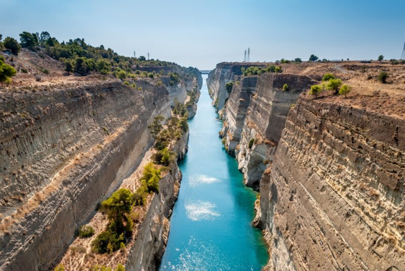 Stop At The Famous Canal Of Corinth On The 6 Day Classic Greece Self- Driving Adventure Package Tour