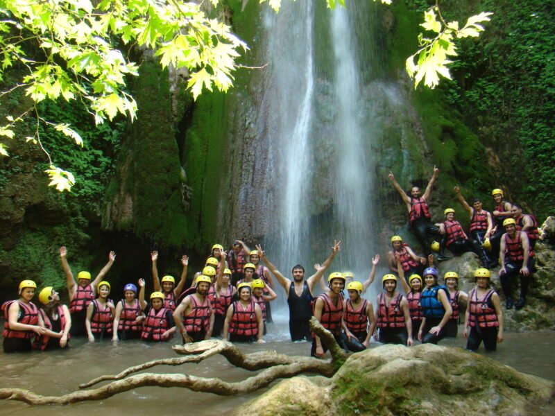 Stop For A Swim At The Waterfalls On The Lousios River Rafting Tour From Vlachorraptis Village_99