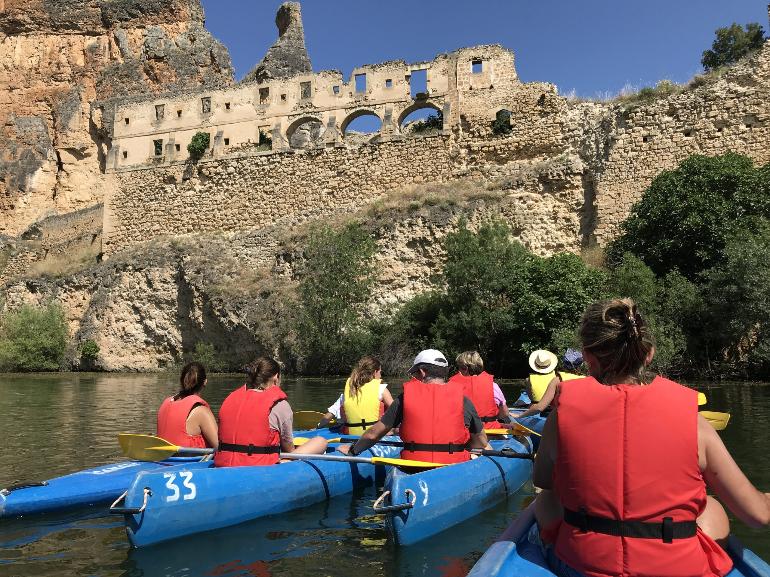 Watch Wildlife And Row Under The Old Ruins Of The Xiii Century Franciscan Monastery In Our Segovia Kayaking Adventure