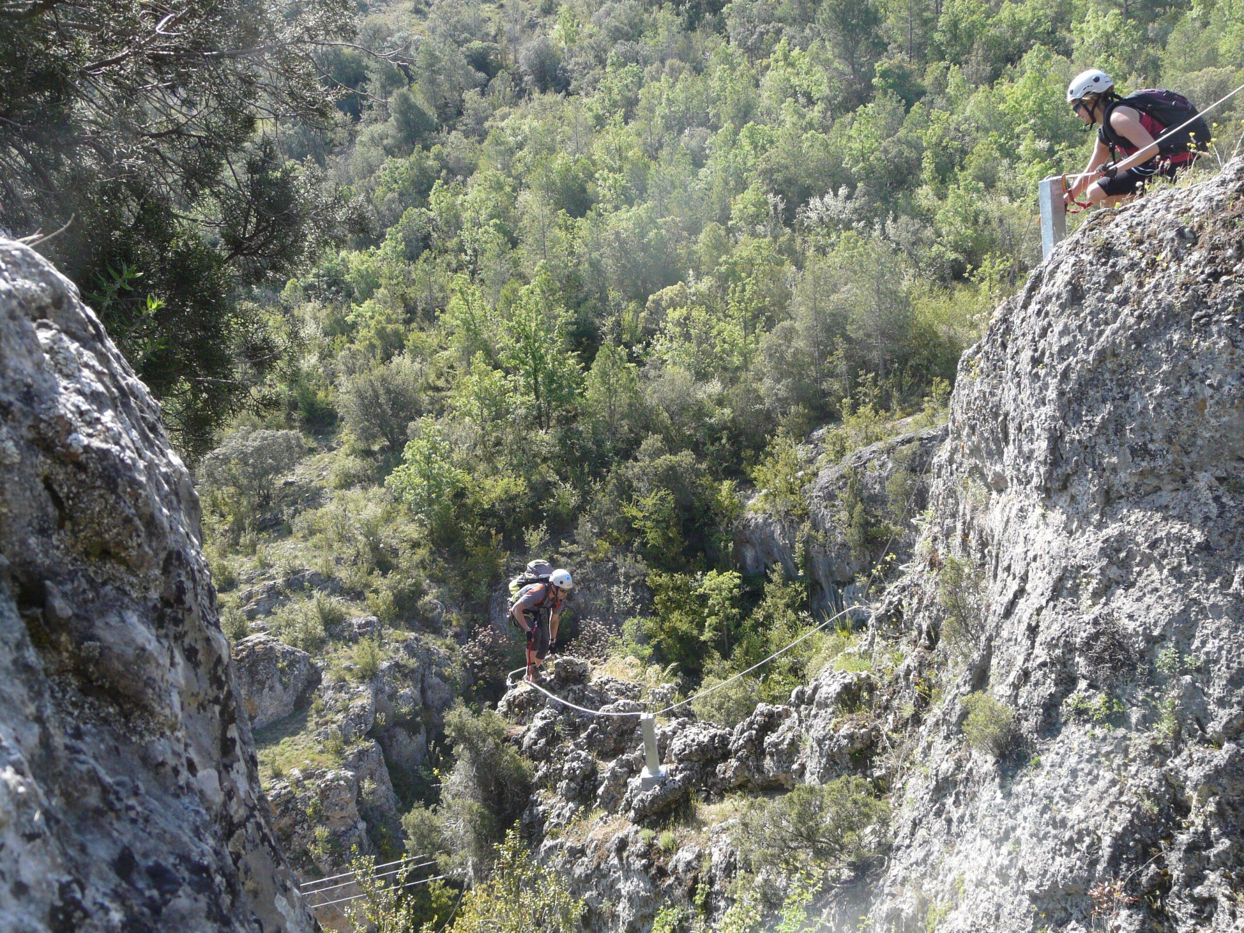 Cross Two Exciting Hanging Bridges In Our Via Ferrata Adventure Tour In Cuenca