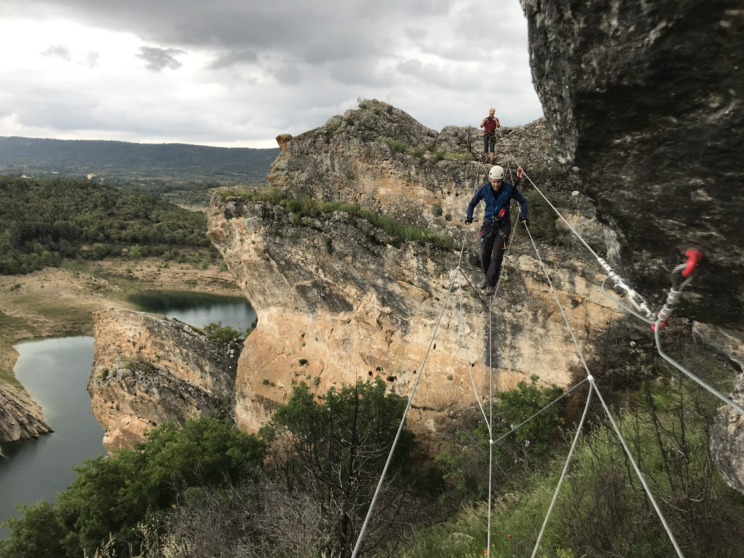 Hanging Bridges And Ziplines That Help You Move Along The Route In Our Via Ferrata Adventure Tour From Madrid