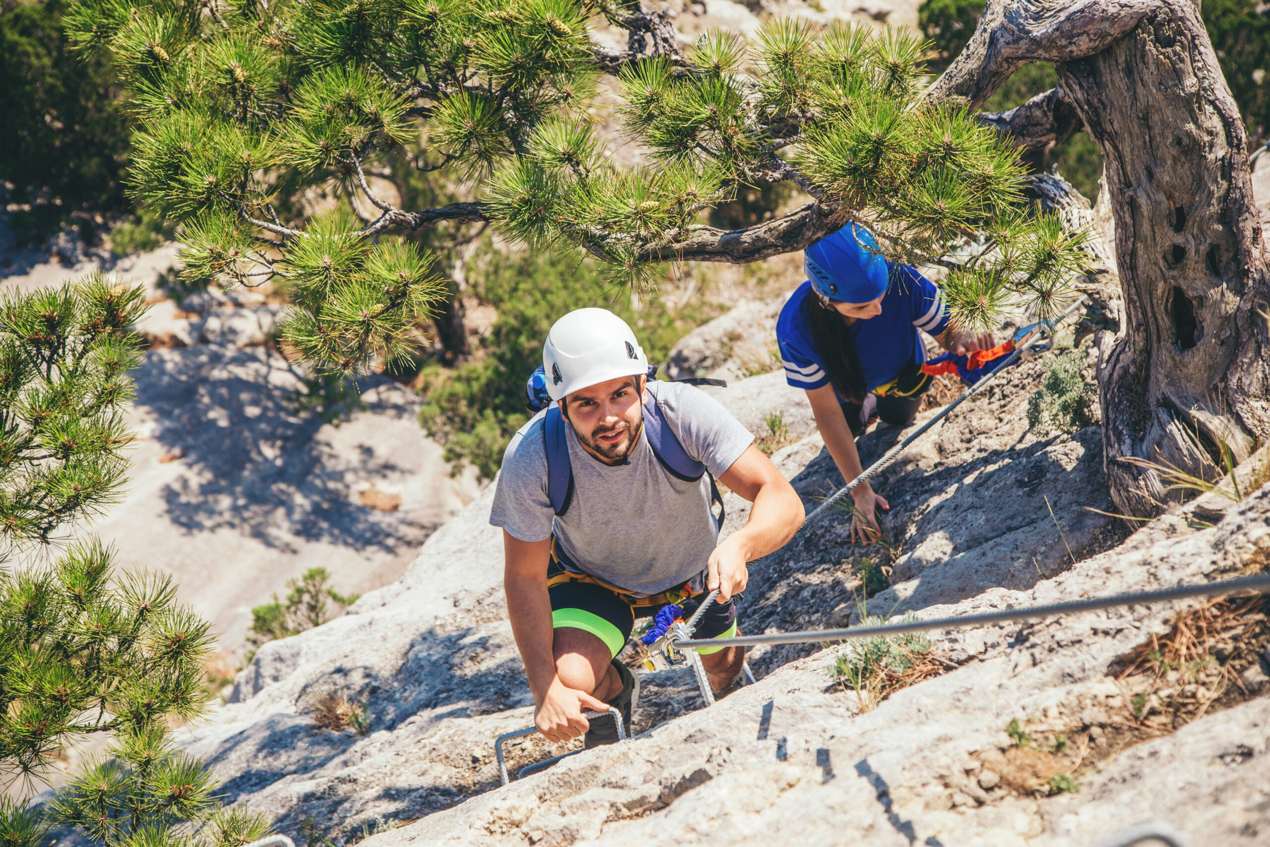 Thrilling Mountain Activity Based On A Mixture Of Alpine Hiking And Rock Climbing Principles In Our Via Ferrata Adventure Tour From Madrid