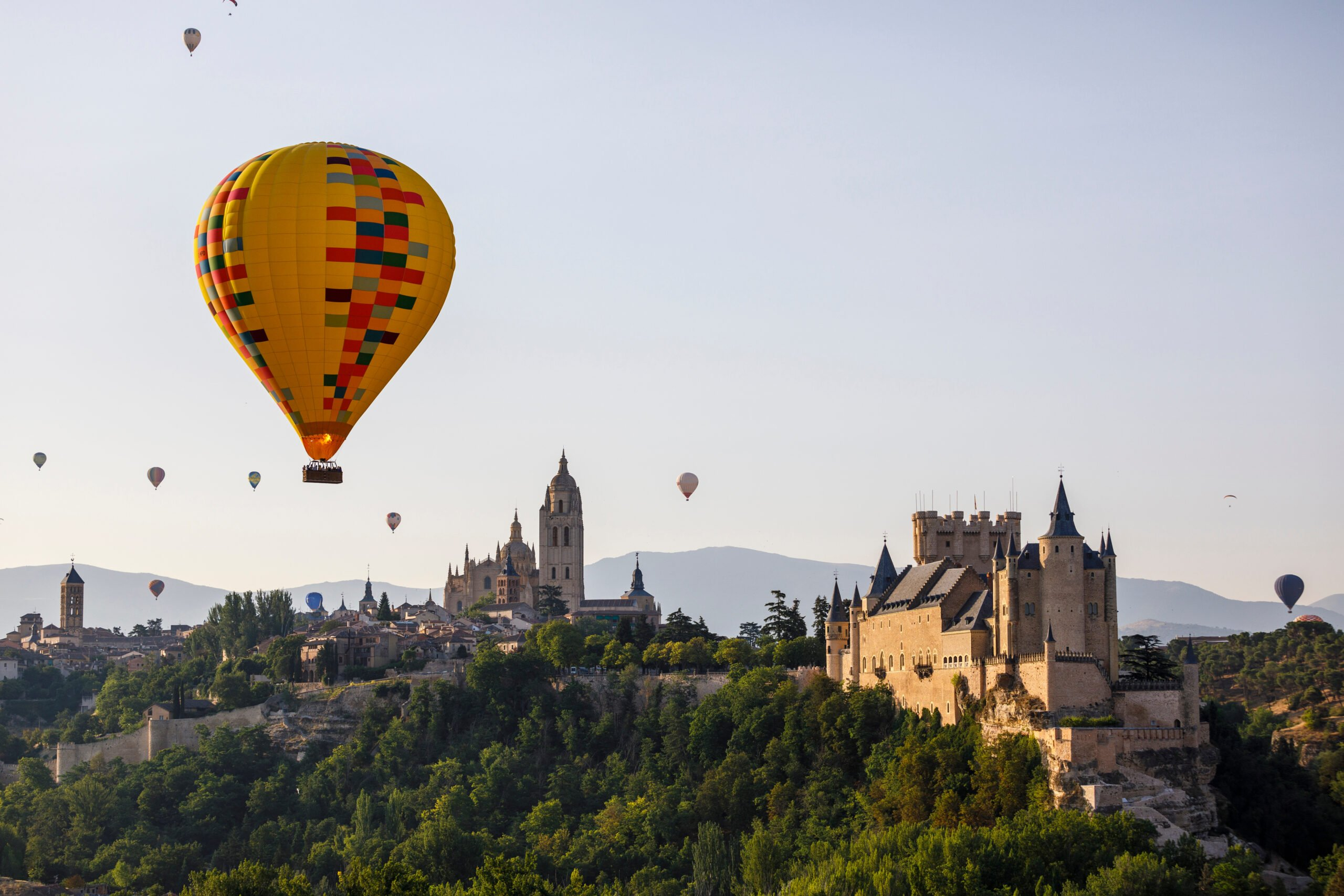 View From Above On Segovis Alcazar In Our Hot Air Balloon Experience In Segovia From Madrid
