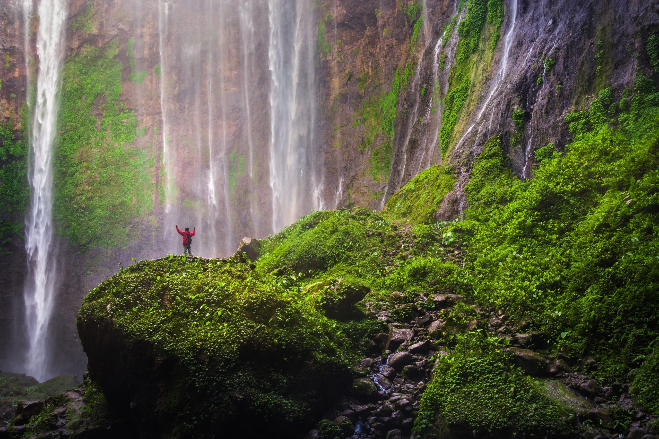 Visit Tumpak Sewu Waterfall In Our Wonders Of East Java 4 Day V.i.p Tour