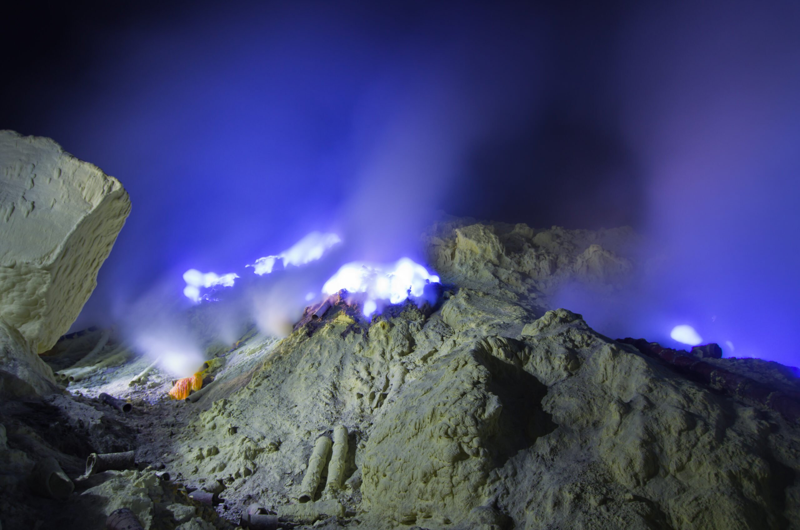 Witness The Dazzling Blue Lava-like Rivers Of Light Known As The Blue Fire Phenomenon In Our Mount Bromo Sunrise & Ijen Blue Fire 2 Day V.i.p Tour
