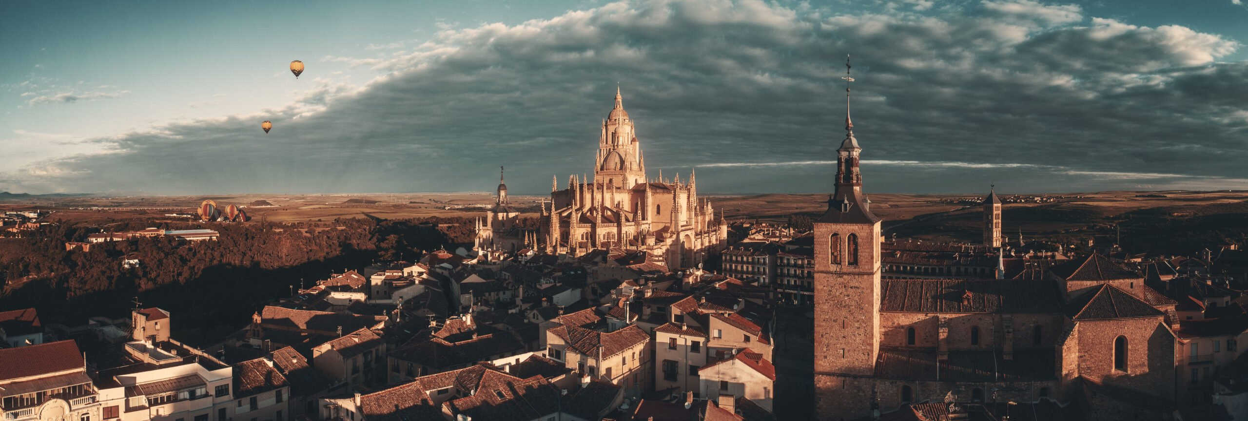 Wonderful Scenery In Our Hot Air Balloon Experience In Segovia From Madrid
