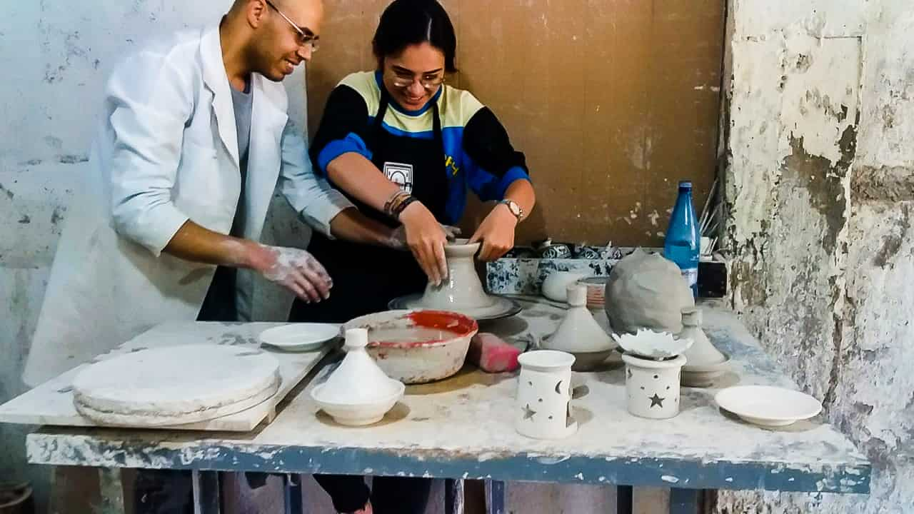 Learn From A Local Artist On The Moroccan Pottery Class With A Local Artist In Marrakesh_102