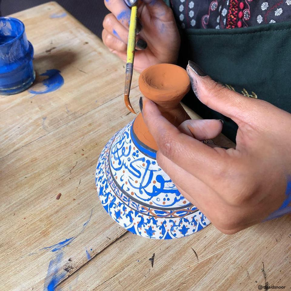 Learn How Create The Traditional Decoration On The Moroccan Pottery Class With A Local Artist In Marrakesh_102
