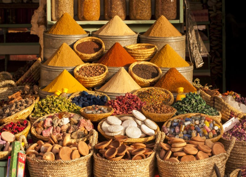 Shop In The Local Market For Ingredients On The Moroccan Cooking Class In Marrakesh