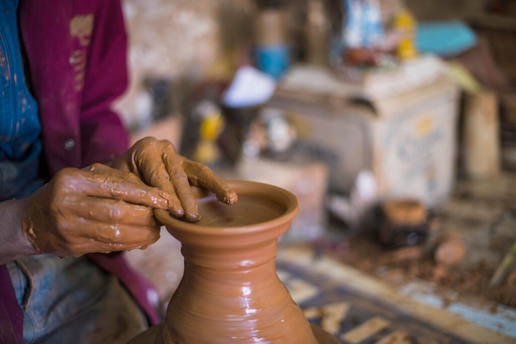 Learn from a local artist on the Moroccan Pottery Class as part of your 2 days in Marrakesh intinerary
