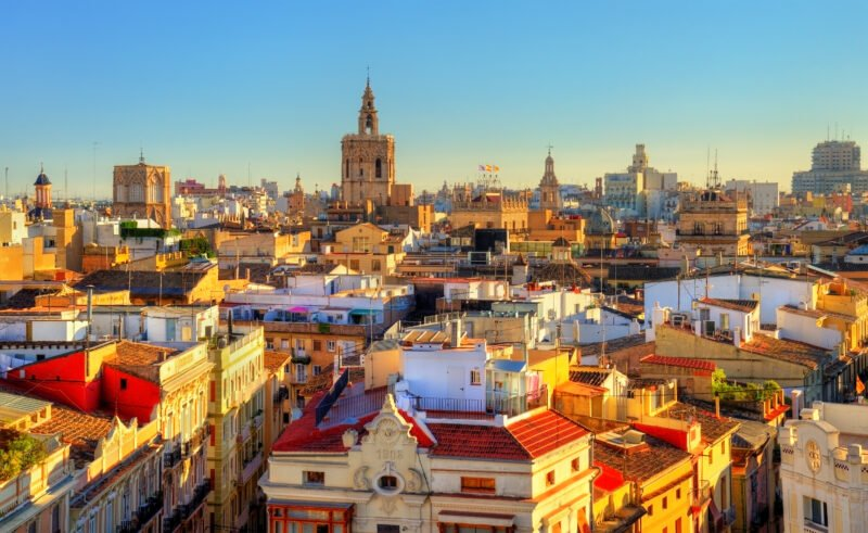 Valencia Old Town Panoramic View
