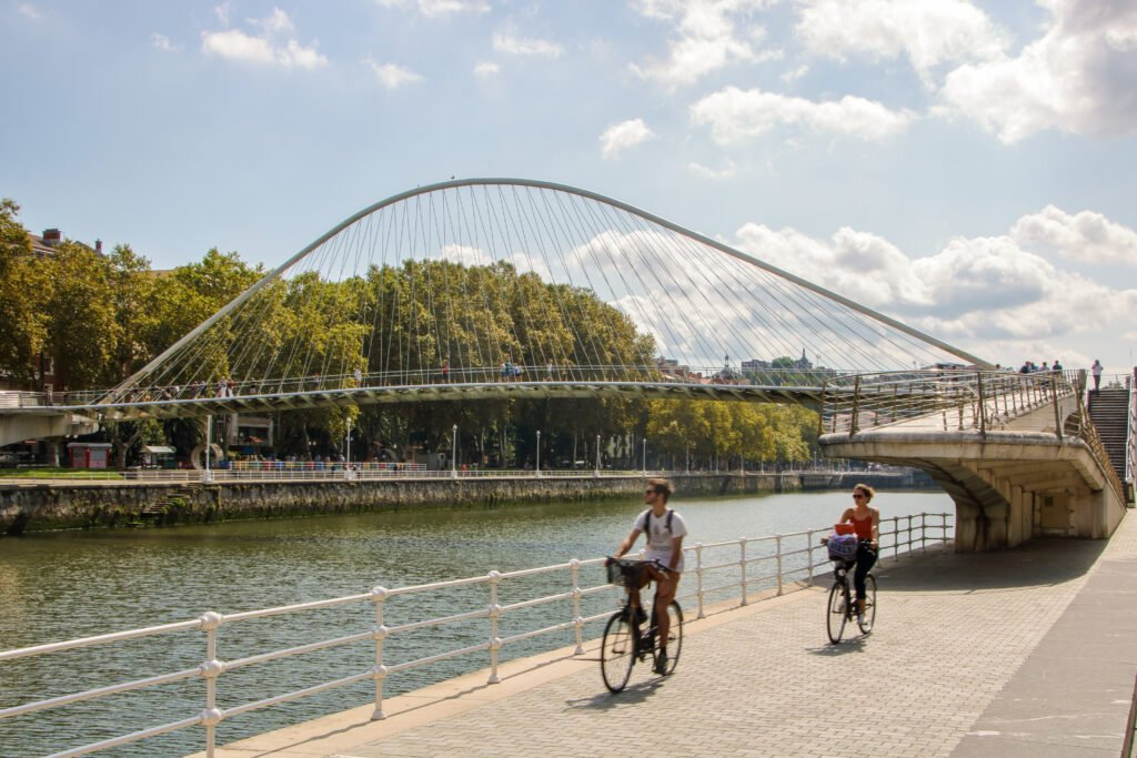 Bike through Bilbao