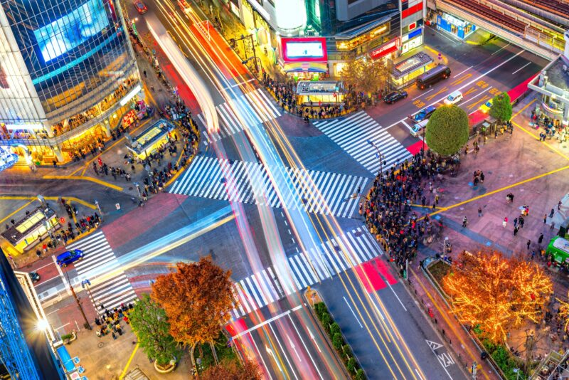Visit The Famous Shibuya Crossing In Tokyo