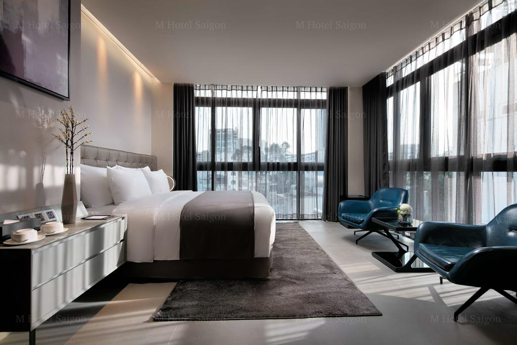 A spacious modern interior at M Hotel Saigon