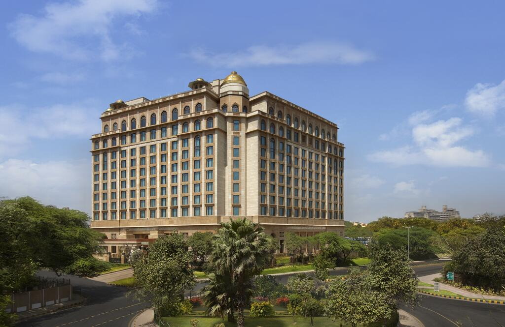 The Leela Palace blends colonial and traditional Indian architecture