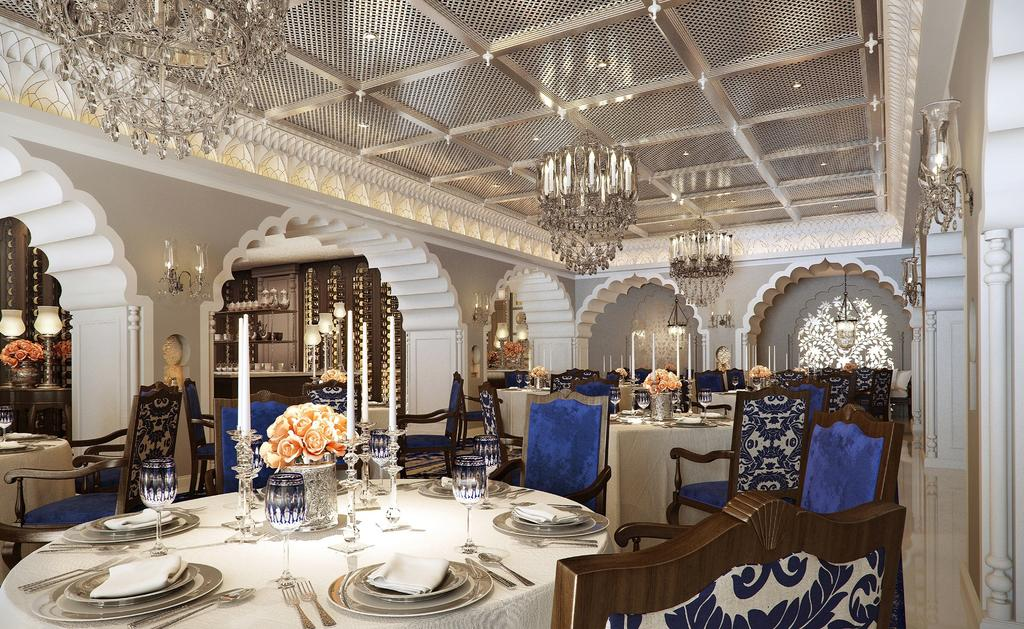A palatial interior at ITC Maurya New Delhi A Luxury Collection Hotel