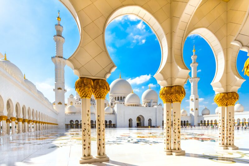 Visit The White Mosque On The Abu Dhabi, Louvre And Qasr Al Watan Tour From Dubai