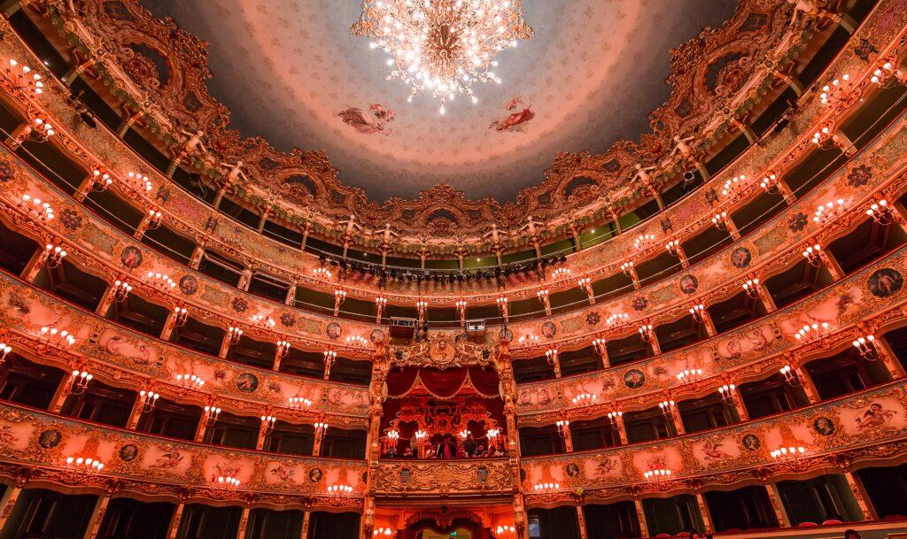 A night at La Fenice Opera House