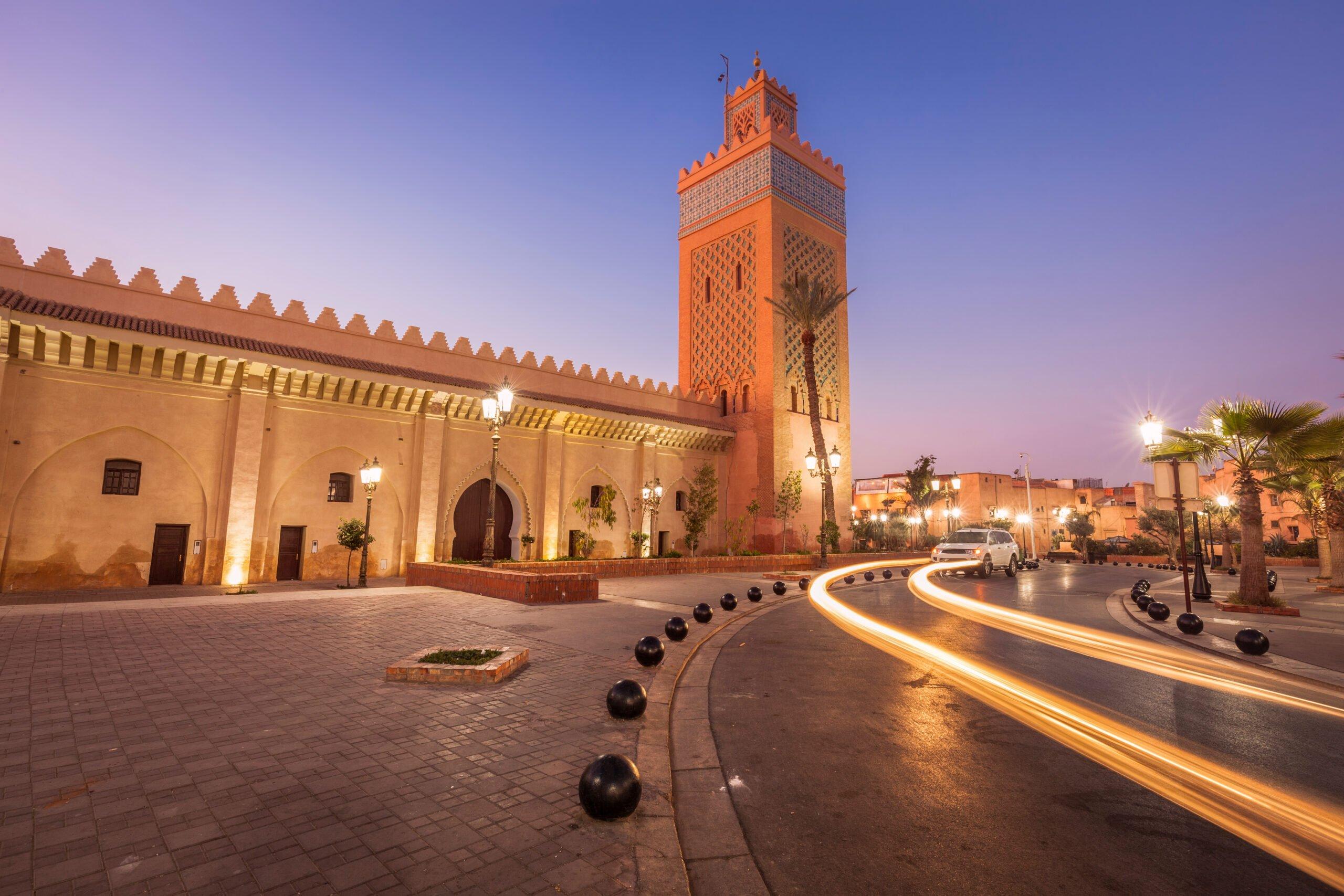 Kasbah,mosque In Marrakesh Morocco