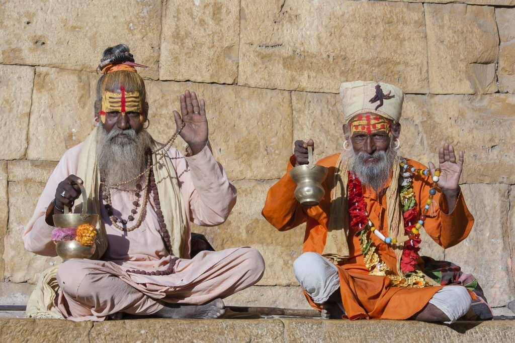 Visiting temples in India