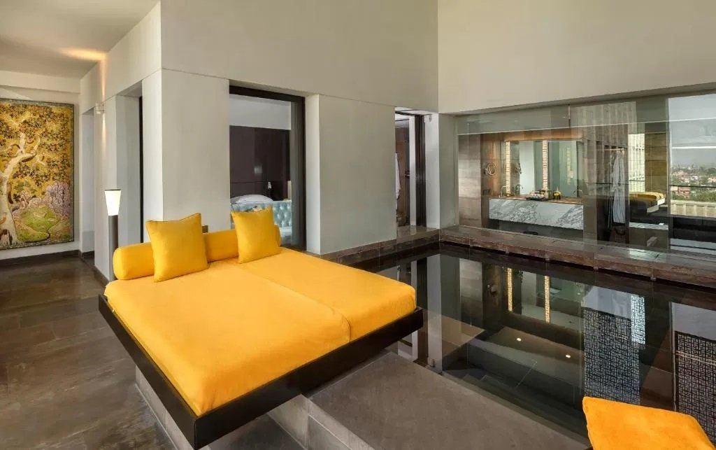 Contemporary interior at the Lodhi. A most beautifully designed hotels in India
