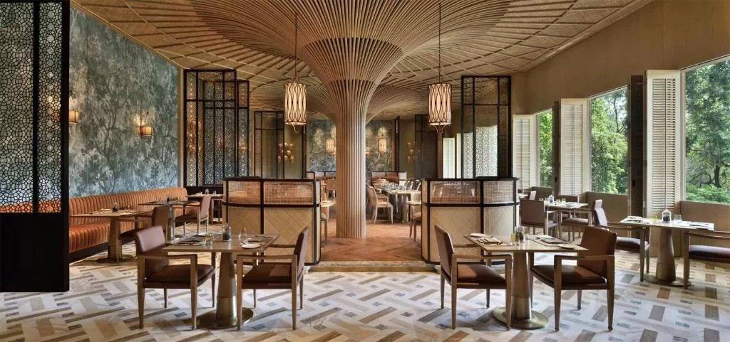 The luxurious Taj Mahal Hotel
