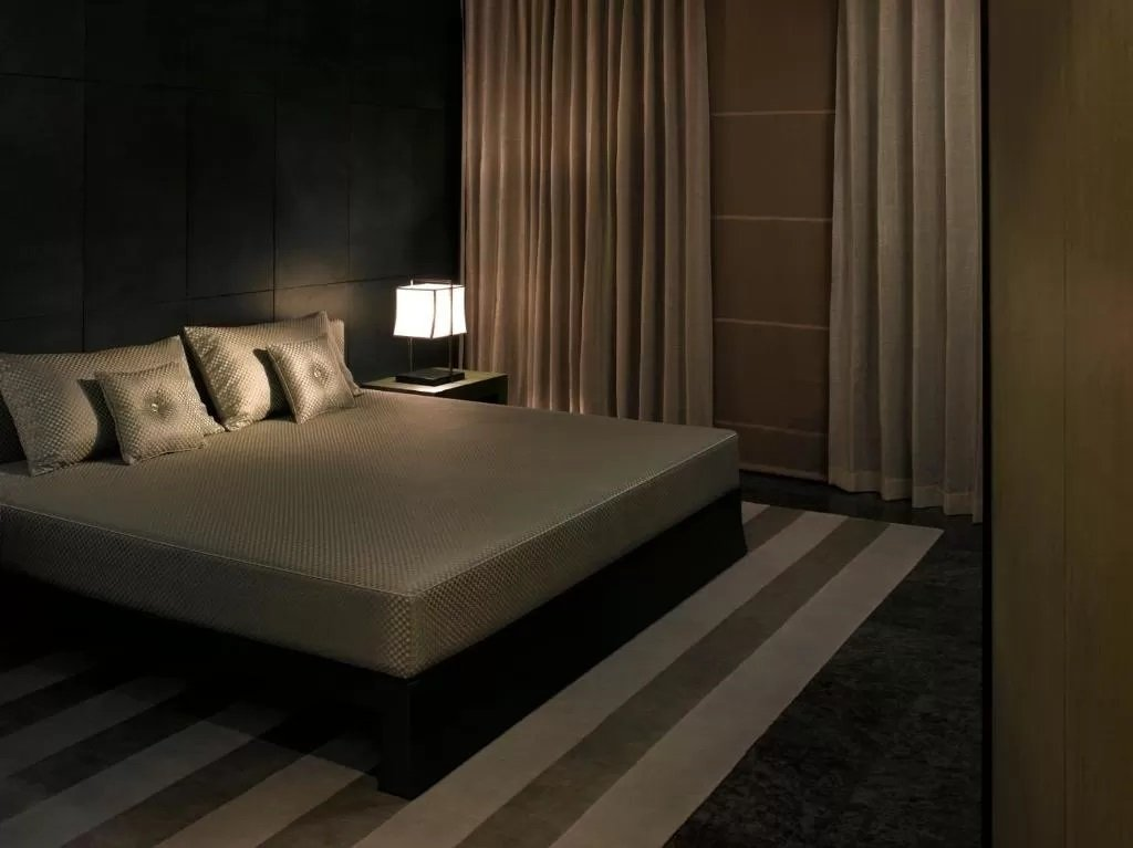 A sophisticated room at Armani Hotel Dubai