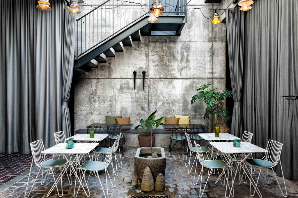Urban architecture features at Hotel Brummell