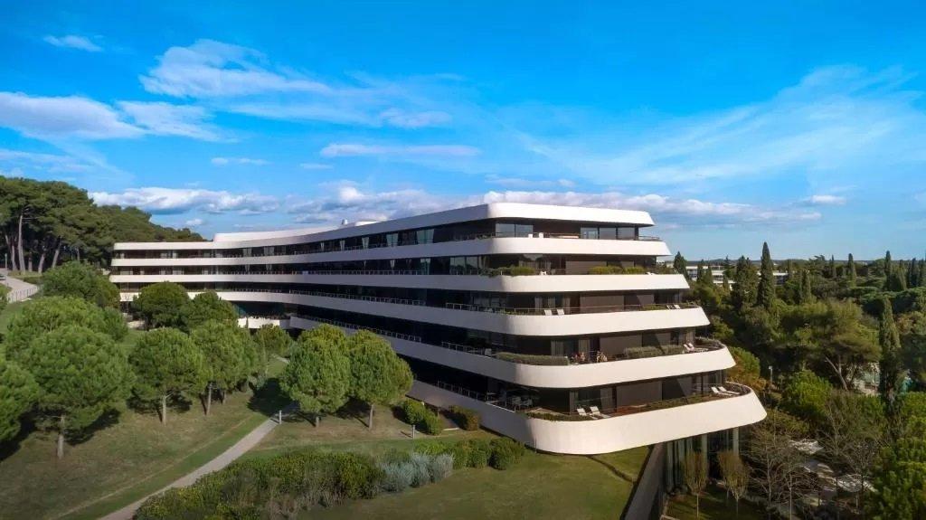 Sweeping curves at Hotel Lone Rovinj - most beautifully designed hotel in Croatia