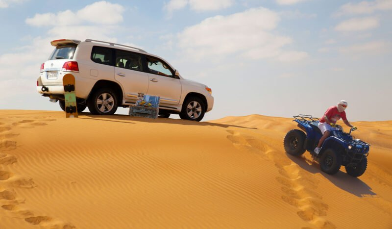 Join The Lahab Desert Safari, Camel Ride, Quad Experience & Private Beach Access At Palm Jumeirah From Dubai_101