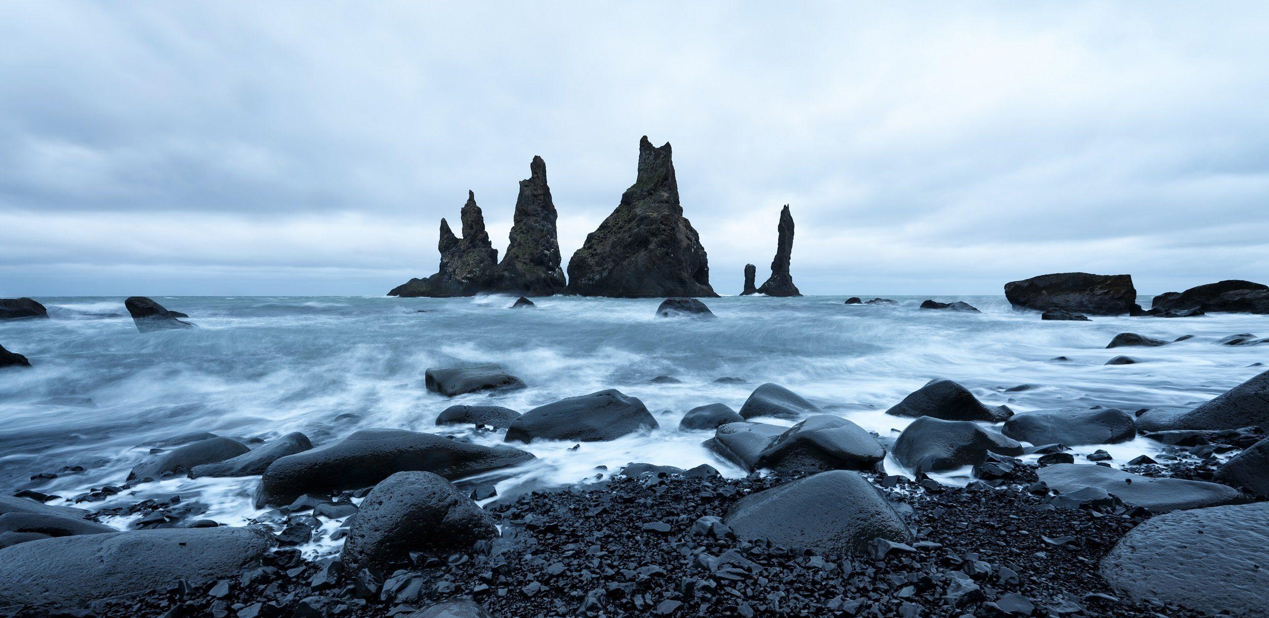 Reynisdrangar,seastacks_5 Day Golden Circle, Jökulsárlón & Blue Lagoon Tour Package