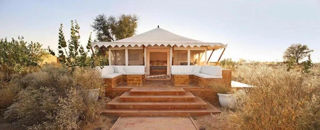 High-end tents at The Serai, Jaisalmer