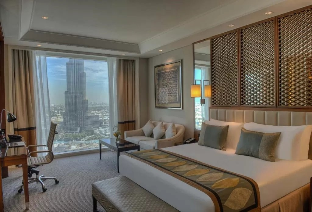 Views of the Burj Khalifa from the Taj Dubai's rooms