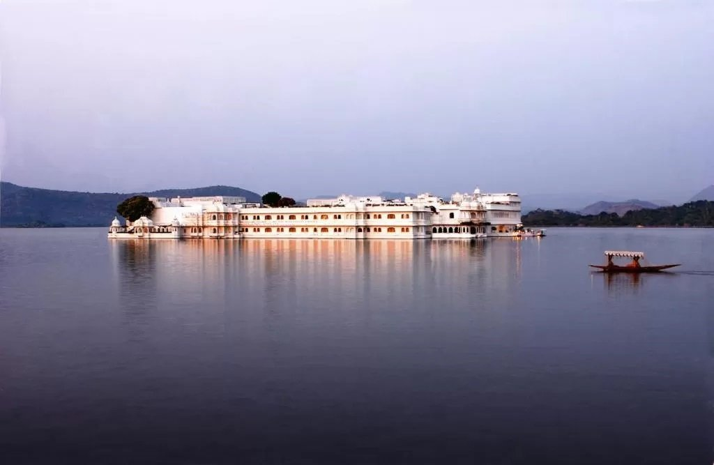 Palatial surrounds at Taj Lake Palace. One of the most beautifully designed hotels in India
