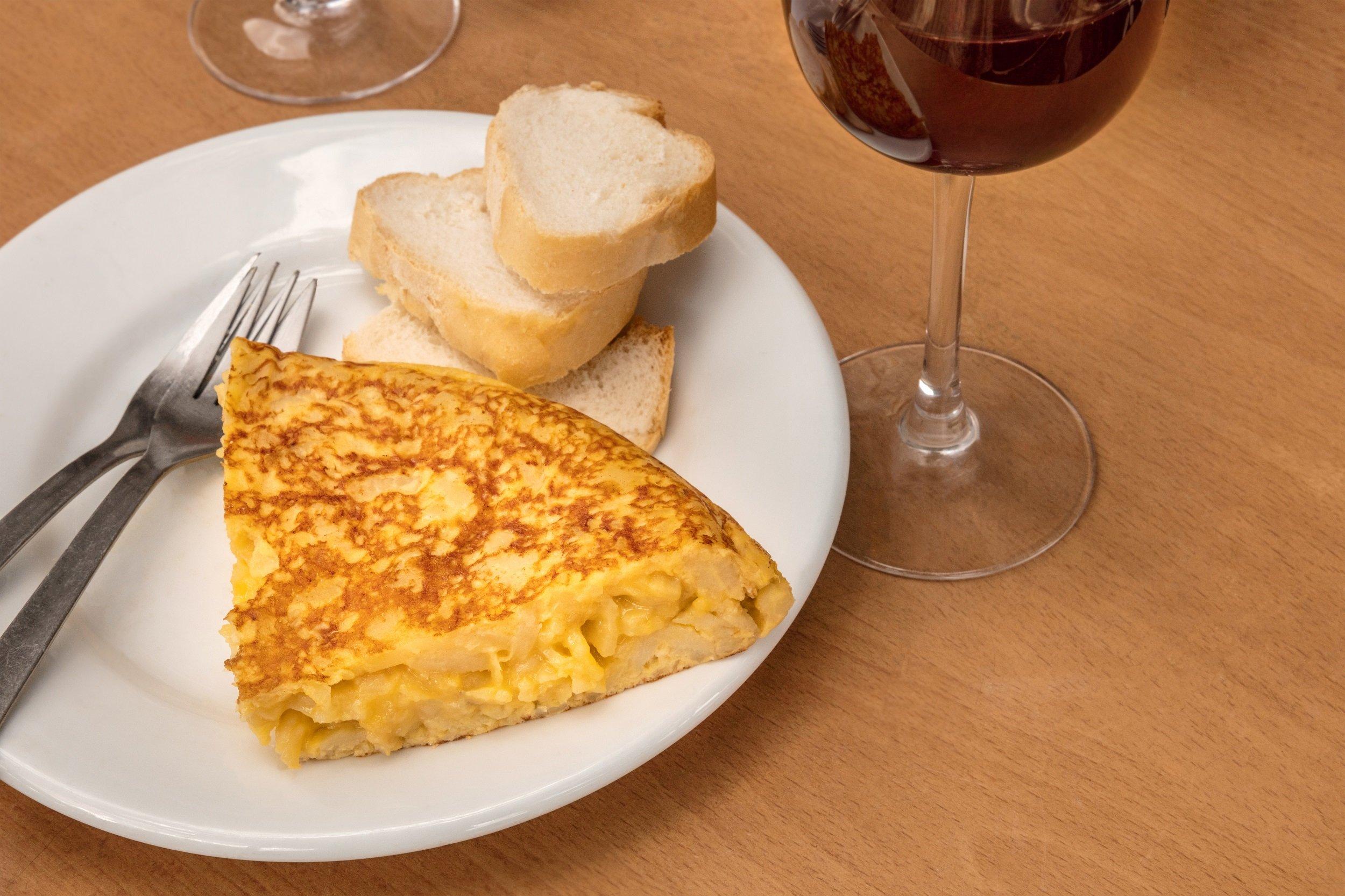 Tortilla Espnola On The Madrid Wine & Tapas Experience