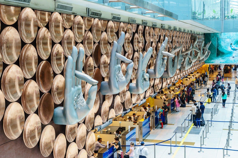 Inside Indira Gandhi International Airport, New Delhi