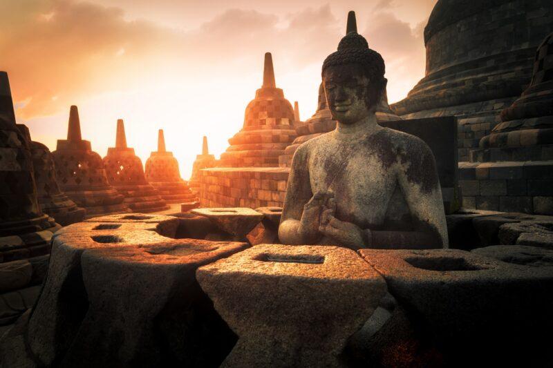 Buddhist Statue, Magelang, Indonesia