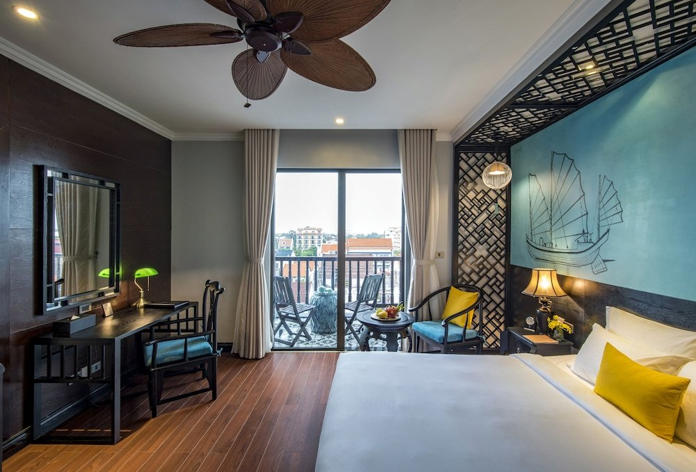 Rooms at Anio Boutique Hotel Hoi An have private balconies