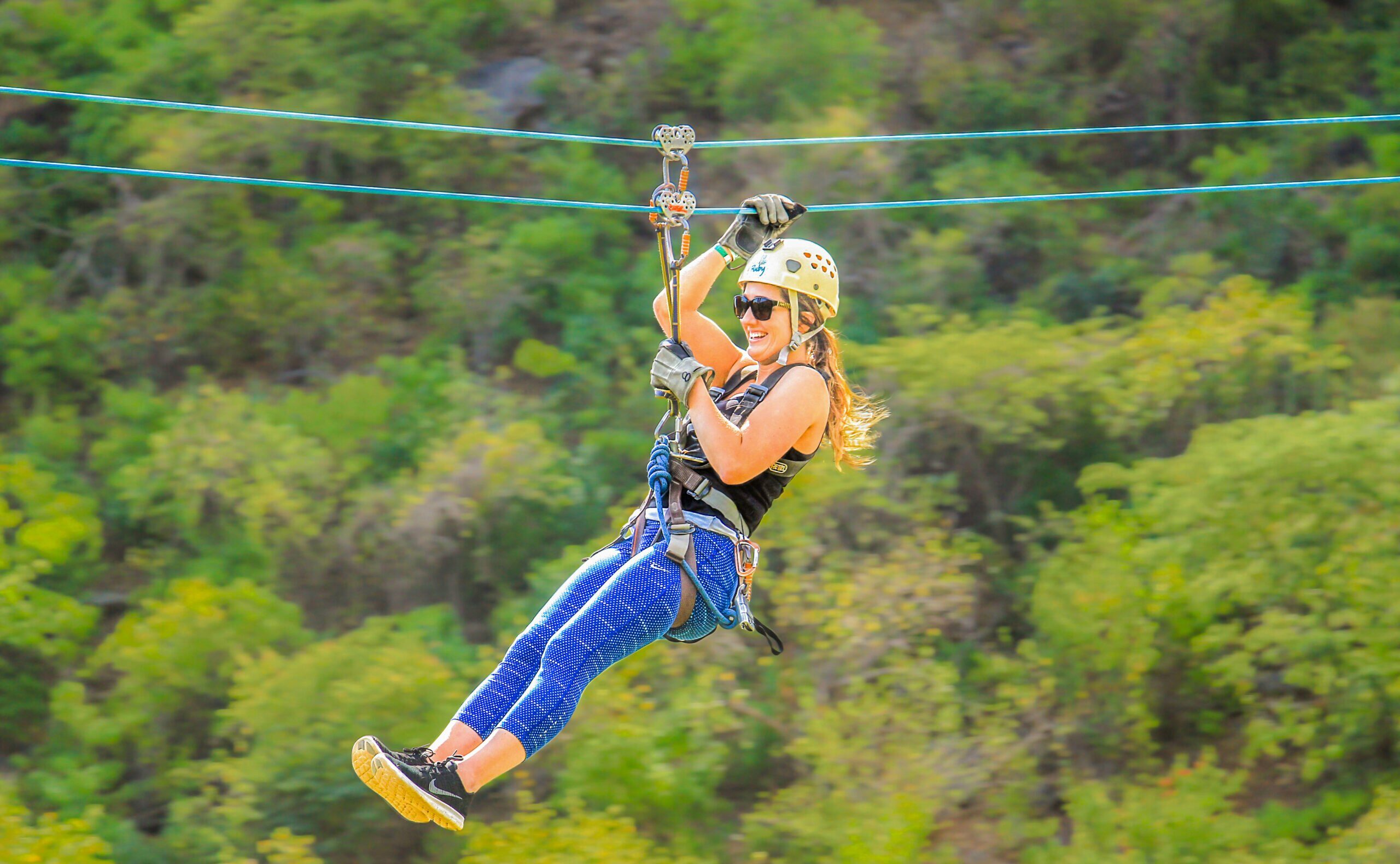 Zipline On Our Tulum Culture & Jungle Adventure Tour From The Riviera Maya