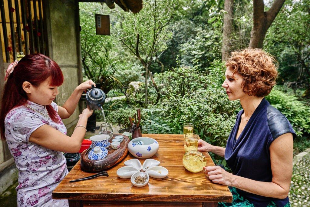 Drinking tea in Chengdu