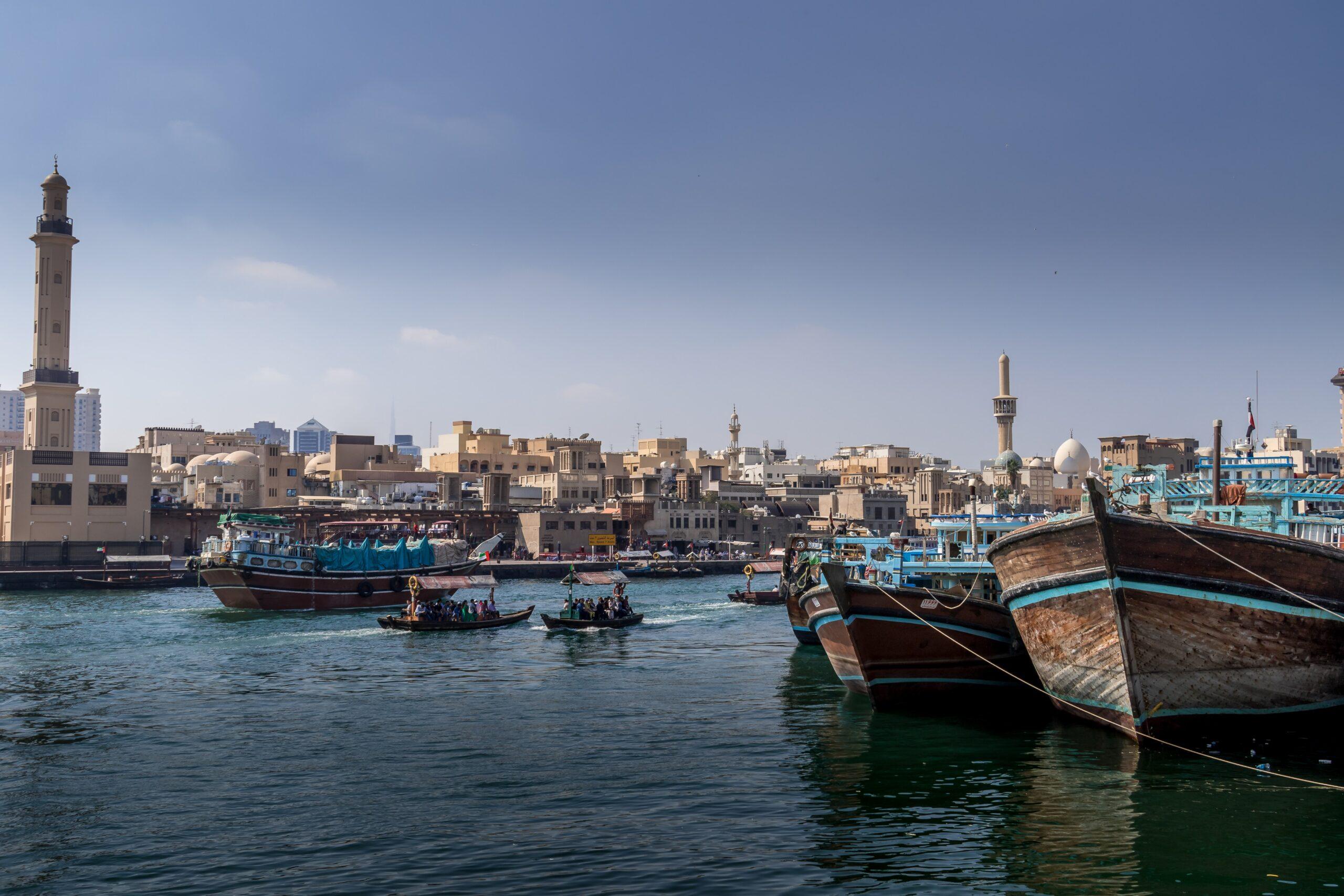 Take A Water Taxi On Our Visit Dubai On Our Classic Dubai Half Day Tour