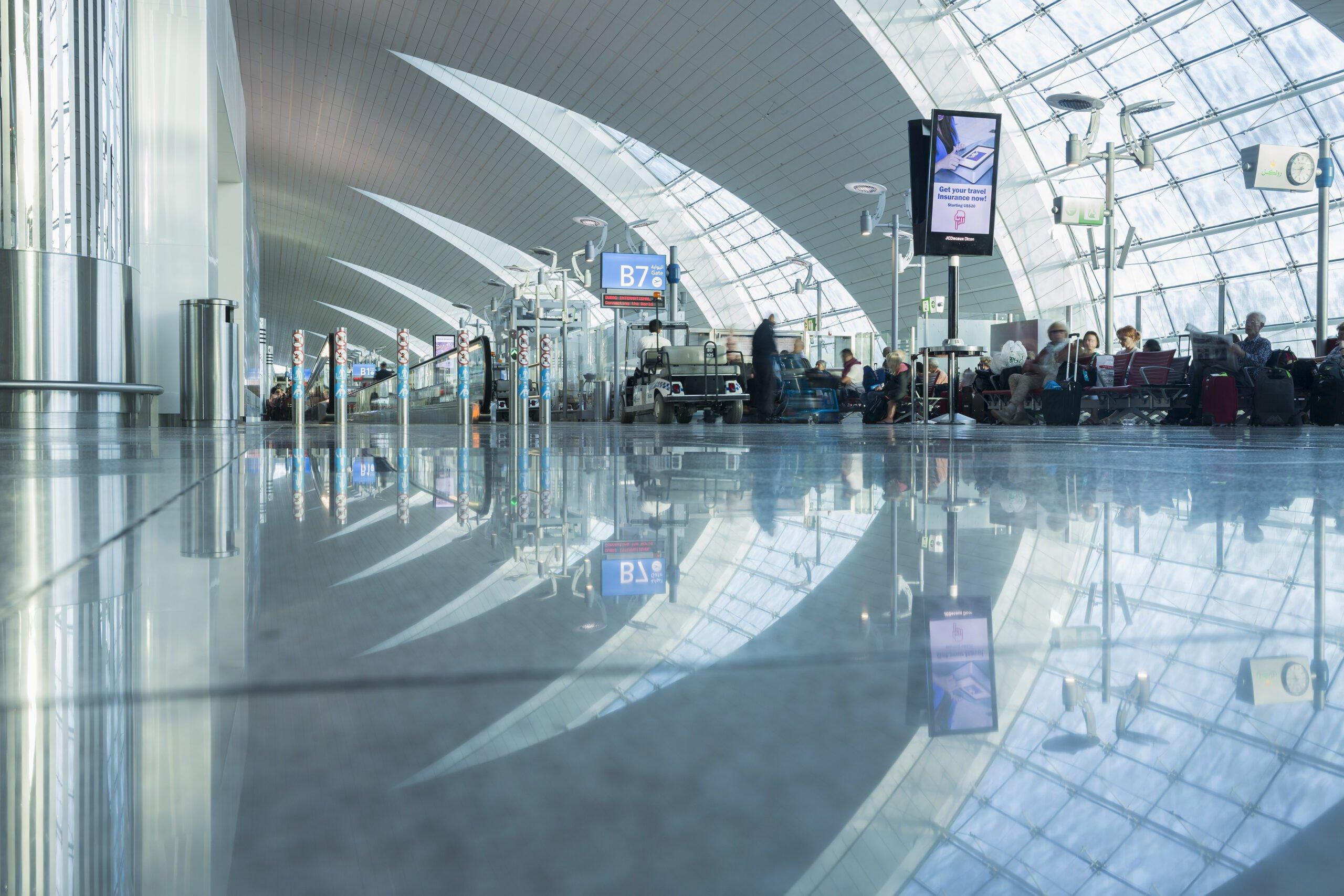 Traveling between terminals at Dubai International Airport