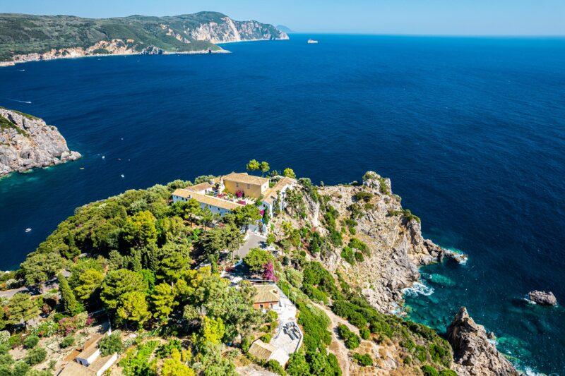 Paleokastritsa Monastery, Kanoni & Corfu Town Tour