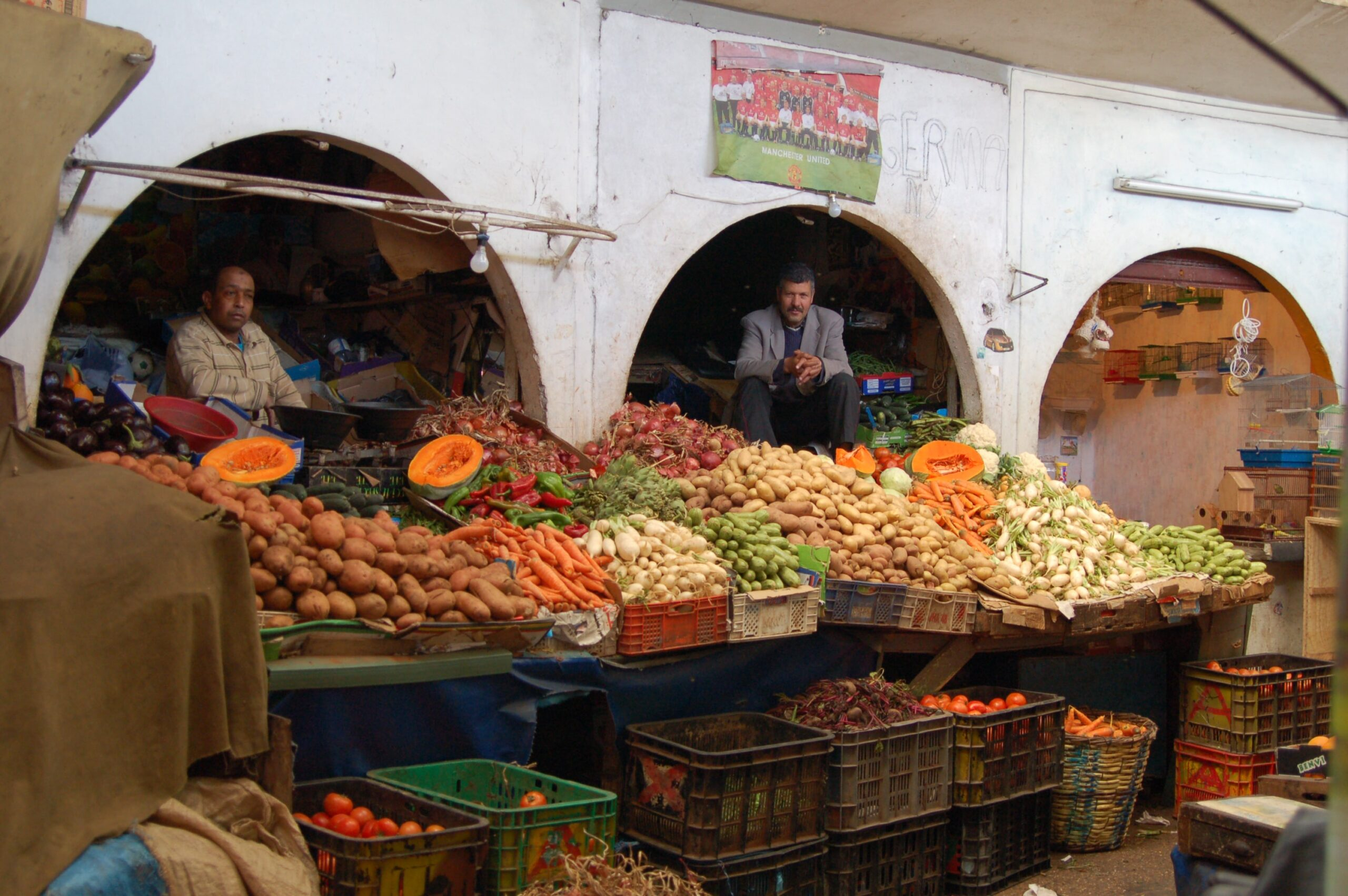 Market Stalls On Our Moroccan Food Tour In Casablanca