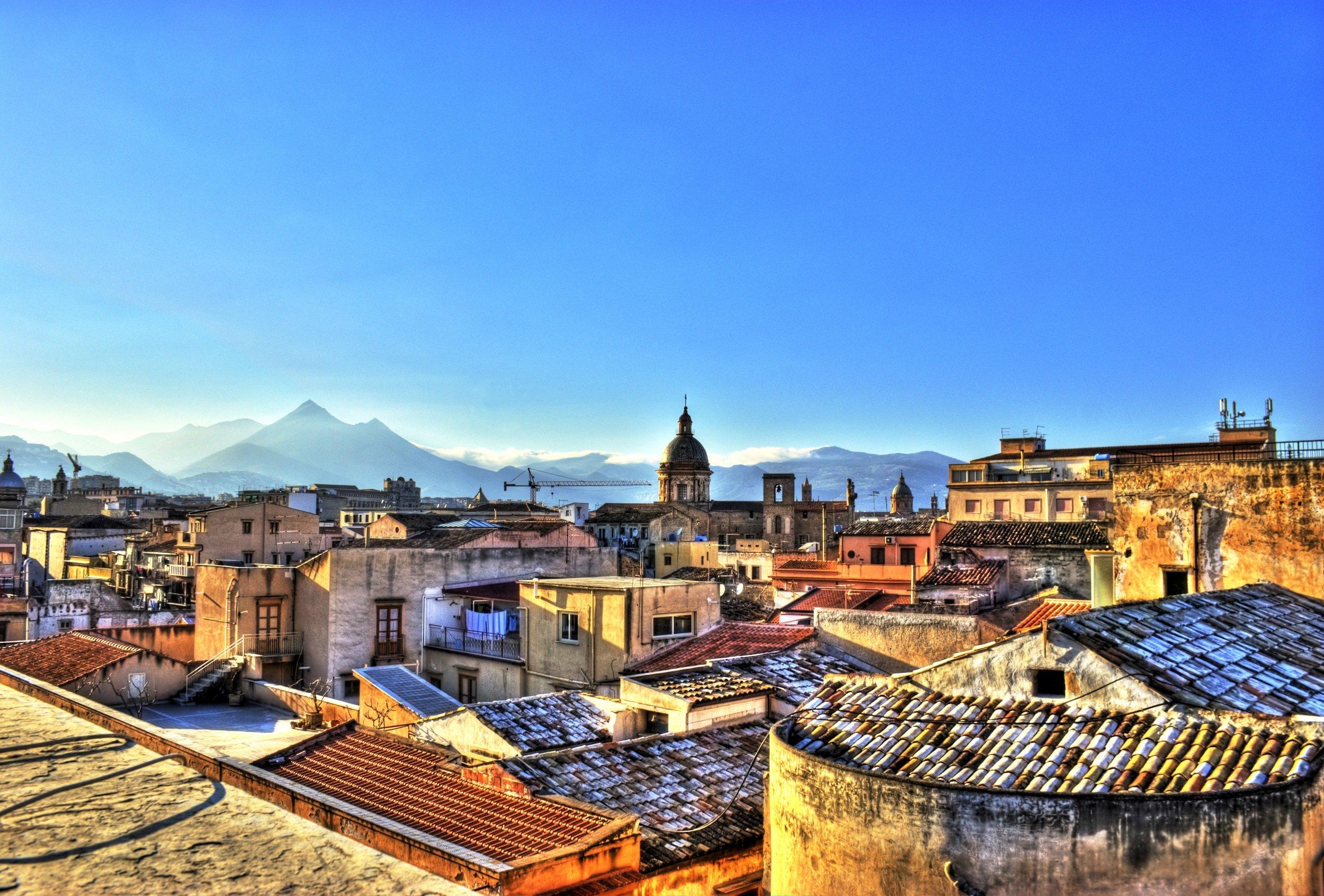 View Over Palermo_palermo Street Food Bike Tour