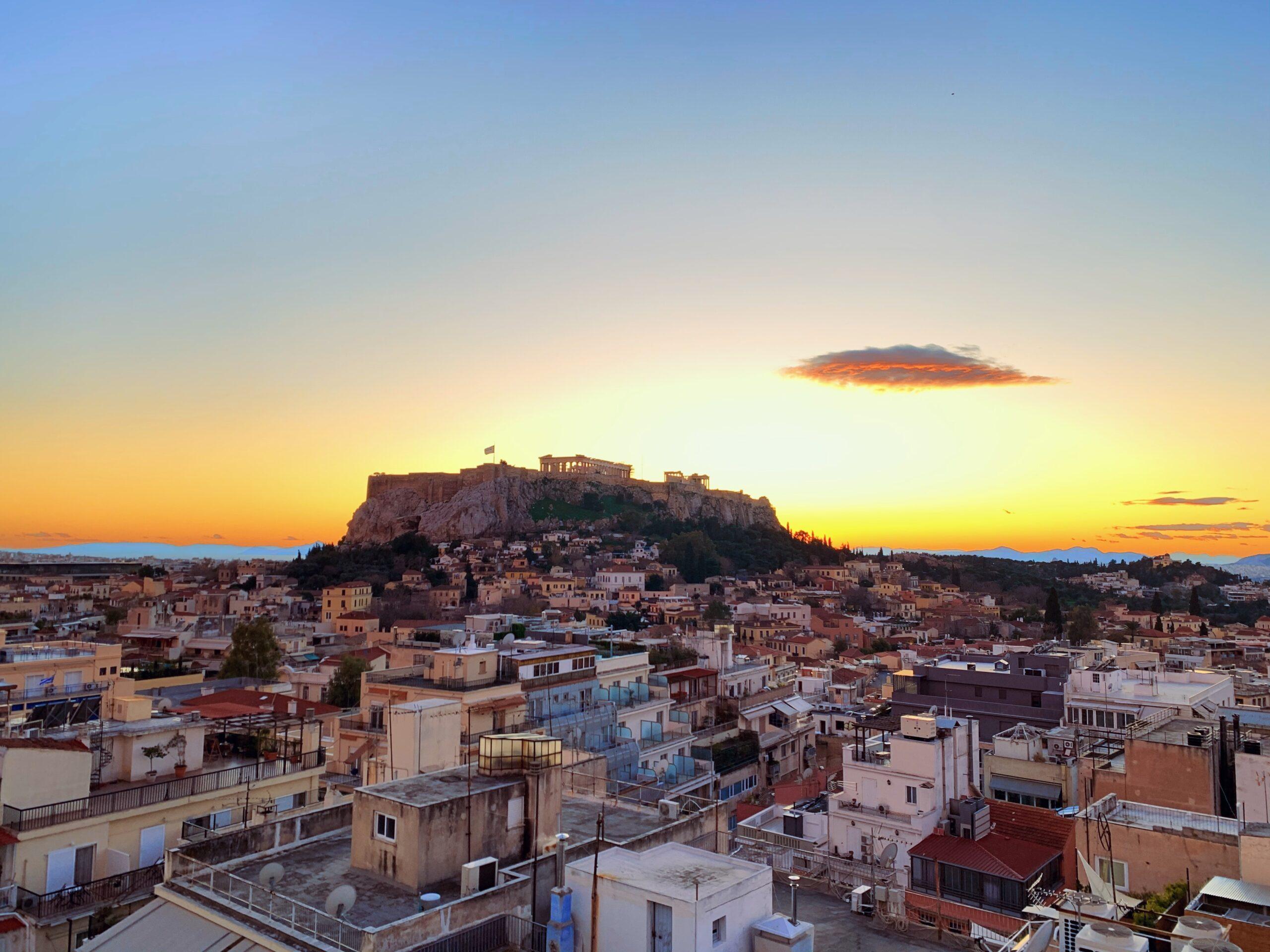 Athens At Sunset - 10 Day Athens, Santorini & Mykonos Package Tour