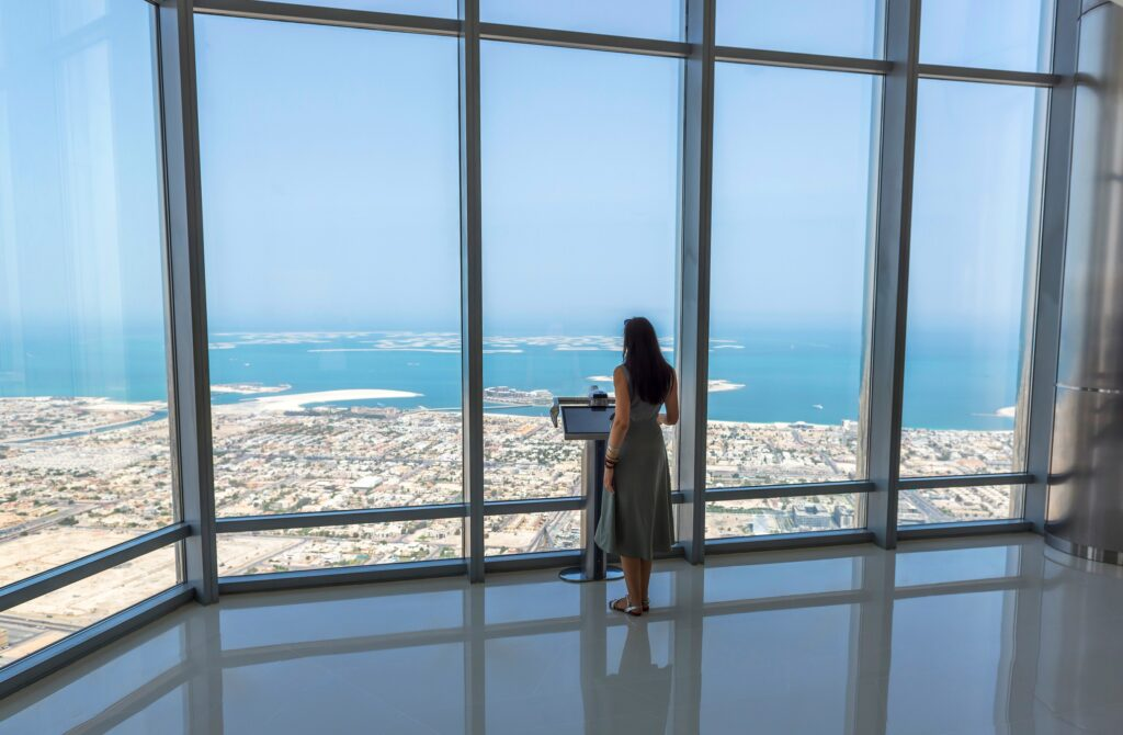 Viewing platform at the Burj Khalifa